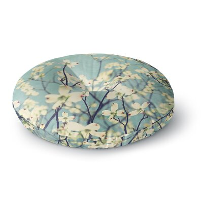 Ann Barnes Pure Floral Round Floor Pillow Size: 26 x 26