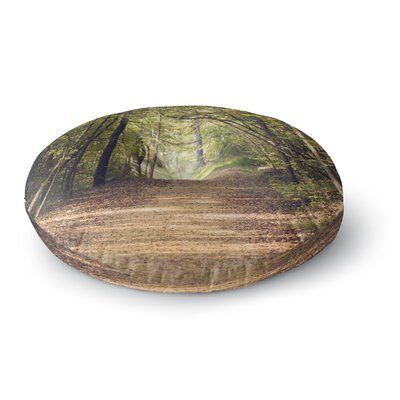 Ann Barnes Forest Nature Photography Trees Round Floor Pillow Size: 23 x 23