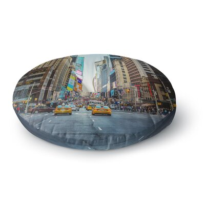 Ann Barnes Sunset Over 7th Urban Photography Round Floor Pillow Size: 26 x 26