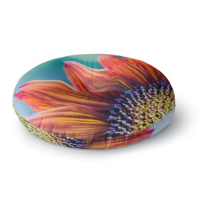 Ann Barnes Fire and Ice Flower Bokeh Round Floor Pillow Size: 23 x 23