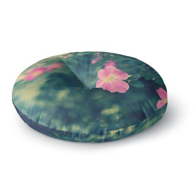Ann Barnes Central Park Roses Nature Round Floor Pillow Size: 26 x 26