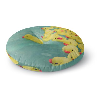 Ann Barnes Escaping Normal Round Floor Pillow Size: 26 x 26