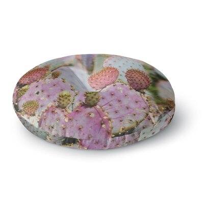 Ann Barnes Cotton Candy Cacti Round Floor Pillow Size: 23 x 23