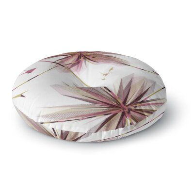 Alison Coxon Flower Round Floor Pillow Size: 26 x 26, Color: Brown