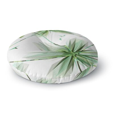 Alison Coxon Flower Round Floor Pillow Size: 23 x 23, Color: Green