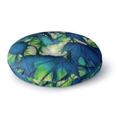 Alison Coxon Leaves Round Floor Pillow Size: 26 x 26