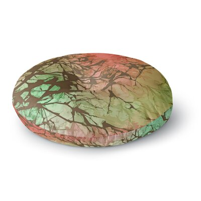 Alison Coxon Skies Round Floor Pillow Size: 23 x 23, Color: Green/Rot