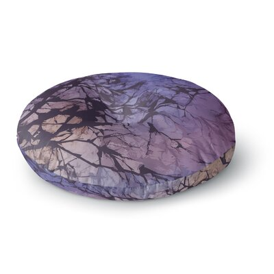 Alison Coxon Skies Round Floor Pillow Size: 23 x 23, Color: Violet