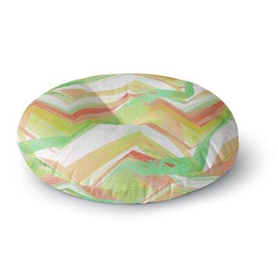Alison Coxon Summer Party Chevron Round Floor Pillow Size: 23 x 23