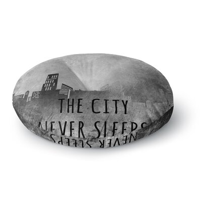 Alison Coxon The City Never Sleeps Round Floor Pillow Size: 23 x 23