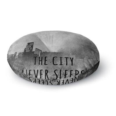 Alison Coxon The City Never Sleeps Round Floor Pillow Size: 26 x 26