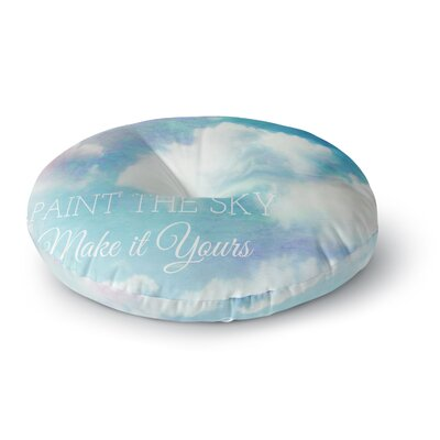 Alison Coxon Paint the Sky Round Floor Pillow Size: 26 x 26