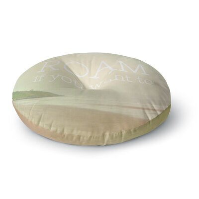 Alison Coxon Roam Ocean Round Floor Pillow Size: 23 x 23