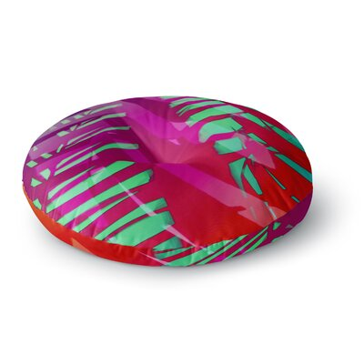Alison Coxon Cool Tropical Round Floor Pillow Size: 23 x 23, Color: Pink/Red/Green
