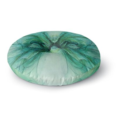 Alison Coxon Butterfly Round Floor Pillow Size: 26 x 26, Color: Green