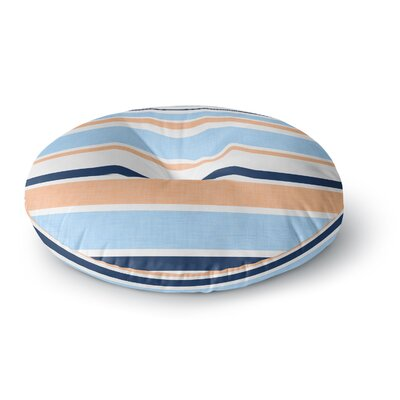 Alison Coxon Jack Tar Round Floor Pillow Size: 26 x 26, Color: Blue/Orange