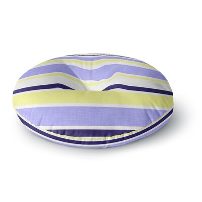 Alison Coxon Jack Tar Round Floor Pillow Size: 26 x 26, Color: Purple/Yellow