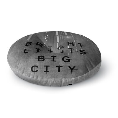 Alison Coxon Bright Lights Dark City Round Floor Pillow Size: 26 x 26
