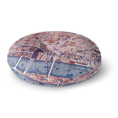 Alison Coxon City Of London Map Round Floor Pillow Size: 26 x 26