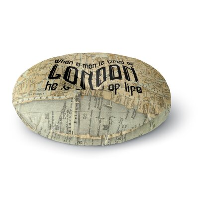 Alison Coxon London Map Round Floor Pillow Size: 23