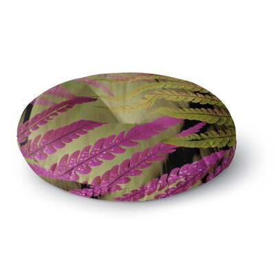 Alison Coxon Forest Fern Russet Round Floor Pillow Size: 23 x 23, Color: Brown/Pink