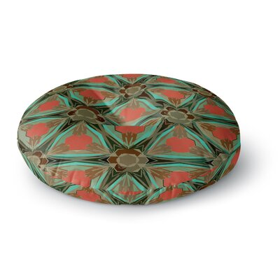Alison Coxon Moorish Earth Round Floor Pillow Size: 26 x 26, Color: Teal/Orange