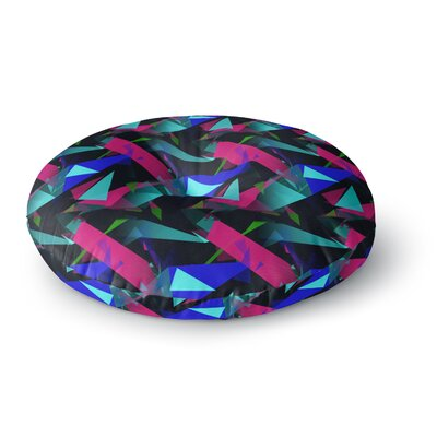 Alison Coxon Confetti Triangles Round Floor Pillow Size: 26 x 26, Color: Pink/Blue/Black