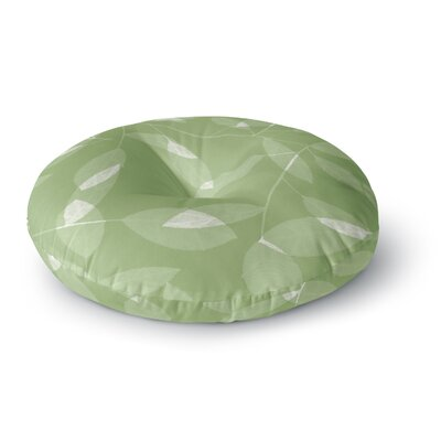 Alison Coxon Leaf Tawny Round Floor Pillow Size: 26 x 26, Color: Green