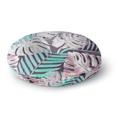 Alison Coxon Midnight Jungle Round Floor Pillow Size: 23 x 23