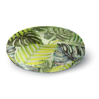Alison Coxon Jungle Round Floor Pillow Size: 26 x 26, Color: Green/Yellow