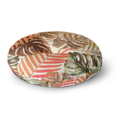 Alison Coxon Jungle Round Floor Pillow Size: 23 x 23, Color: Orange/Brown