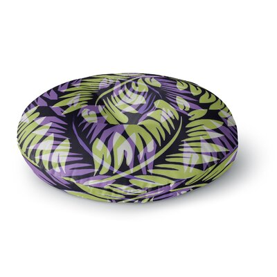 Alison Coxon Dark Fern Round Floor Pillow Size: 26 x 26