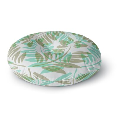 Alison Coxon Winter Fern Round Floor Pillow Size: 26 x 26, Color: Green