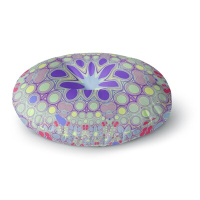 Alison Coxon Hippy Flowers Kaleidoscope Round Floor Pillow Size: 26 x 26