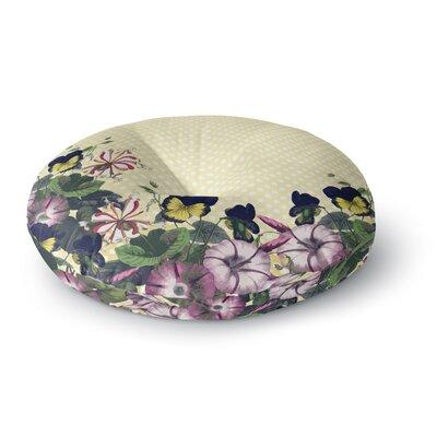 Alison Coxon Polka Dot Round Floor Pillow Size: 26 x 26