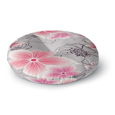 Alison Coxon Floral Round Floor Pillow Size: 26 x 26, Color: Pink