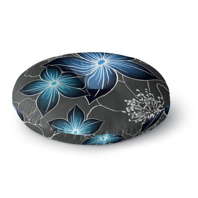 Alison Coxon Charcoal And Cobalt Round Floor Pillow Size: 26 x 26
