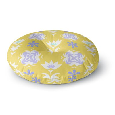 Alison Coxon Edwardian Tile Round Floor Pillow Size: 23 x 23, Color: Yellow