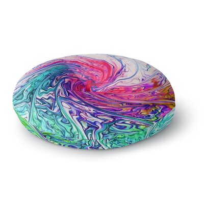 Alison Coxon Colour Wave Fantasy Round Floor Pillow Size: 26 x 26