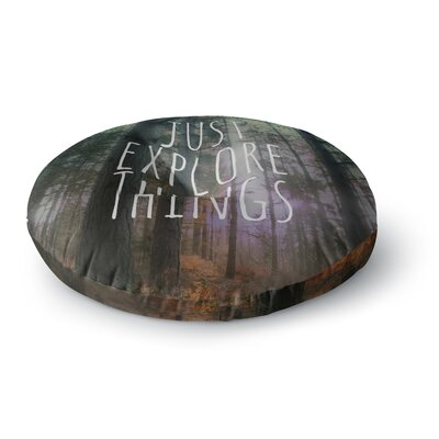 Alison Coxon Just Explore Things Round Floor Pillow Size: 23 x 23