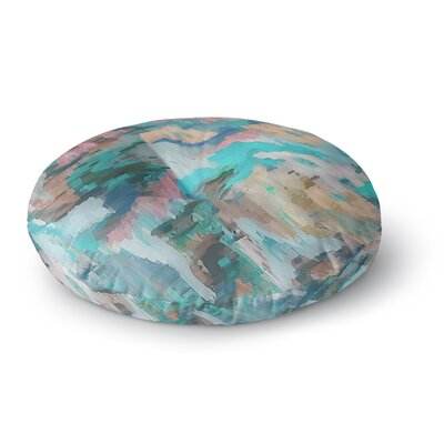 Alison Coxon Giverny Round Floor Pillow Size: 23 x 23, Color: Teal/Brown