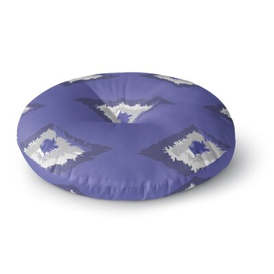 Alison Coxon Ikat Round Floor Pillow Size: 23 x 23, Color: Blue