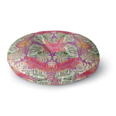 Alison Coxon Summer Jungle Love Round Floor Pillow Size: 26 x 26, Color: Purple/Green/Red