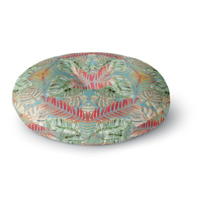 Alison Coxon Summer Jungle Love Round Floor Pillow Size: 23 x 23, Color: Blue/Red/Aqua
