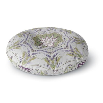 Alison Coxon Boho Dream Round Floor Pillow Size: 26 x 26, Color: Green