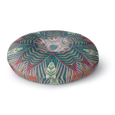 Alison Coxon Kitenge Round Floor Pillow Size: 23 x 23, Color: Green/Rot