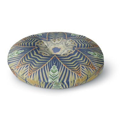 Alison Coxon Kitenge Round Floor Pillow Size: 23 x 23, Color: Blue/Yellow