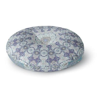 Alison Coxon Jungle Kaleidoscope Warm Round Floor Pillow Size: 23 x 23, Color: Blue