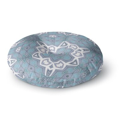 Alison Coxon Tribal Air Round Floor Pillow Size: 26 x 26, Color: Blue/White