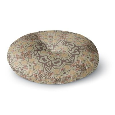 Alison Coxon Tribal Air Round Floor Pillow Size: 26 x 26, Color: Beige/Brown
